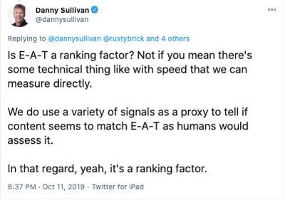 Danny Sullivan E-A-T seo Google